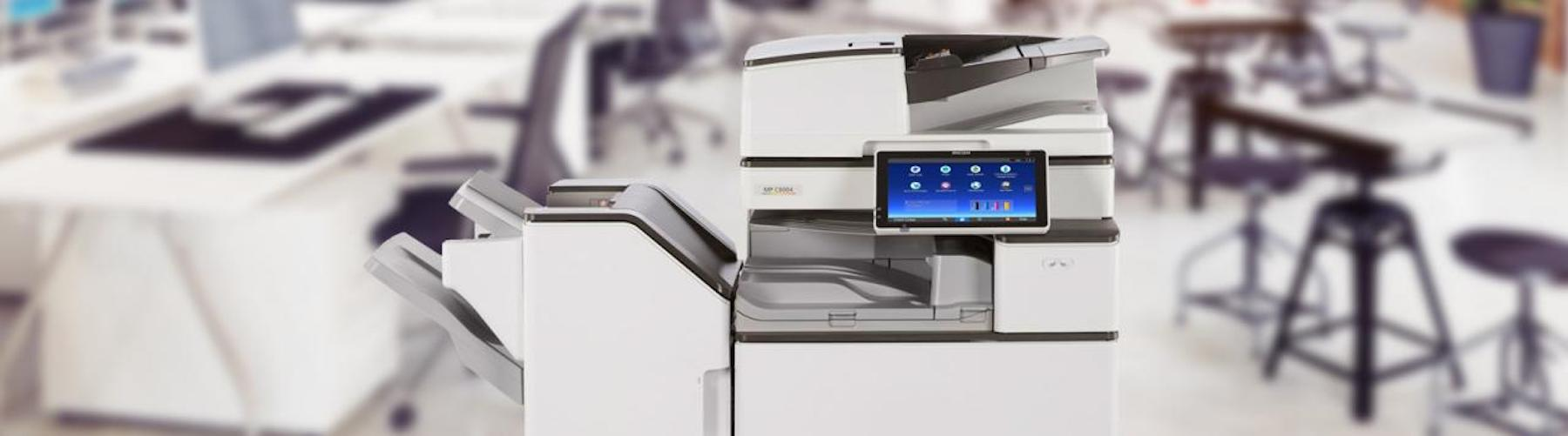 Ricoh Multifunction Device in a large office space